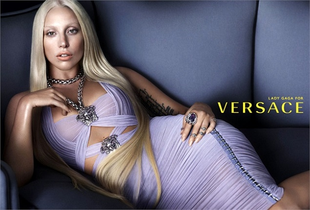 Lady Gaga for Versace SS14 campaign
