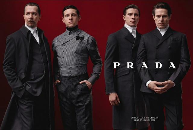 Jamie Bell, Gary Oldman, Garret Hedlund, Willem Defoe for Prada FW12 campaign by David Sims