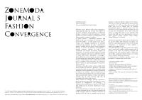 ZoneModa Journal vol.5 FASHIONCONVERGENCE