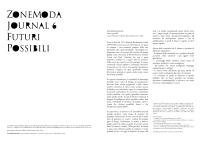 ZoneModa Journal 6: FUTURI POSSIBILI / Call forPaper