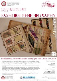 A. A. 2016/17 Tirocinio d'eccellenza. SOF 1: Fondazione Fashion Research Italy: Fashion Photography Archive