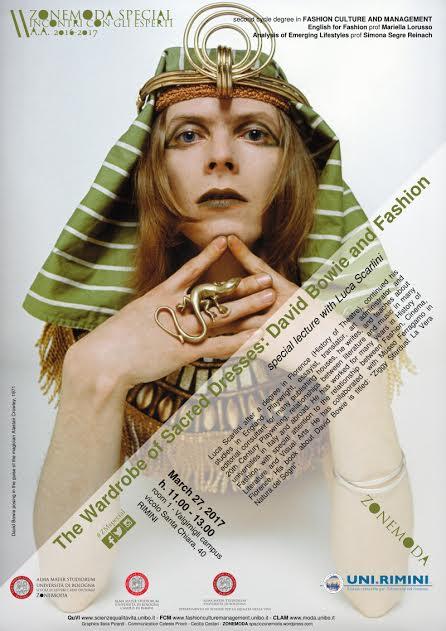 The Wardrobe of Sacred Dresses: David Bowie and Fashion, lezione con LucaScarlini