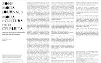 ZoneModa Journal 7: Moda e cultura della Celebrità/ Call forPaper